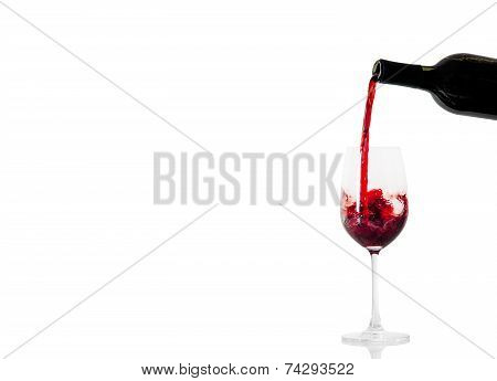 red wine and a bottle