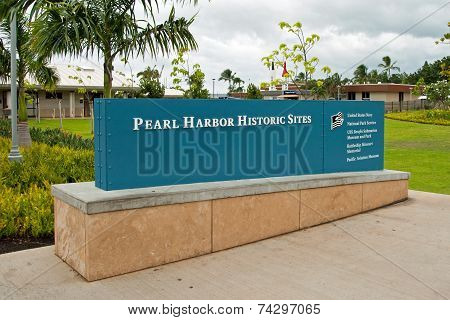 Pearl Harbor Historic Sites Sign Memorial