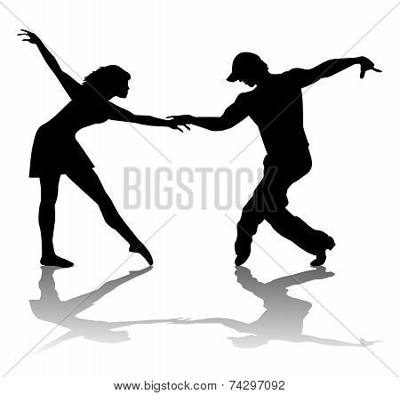 couple of dancers silhouette