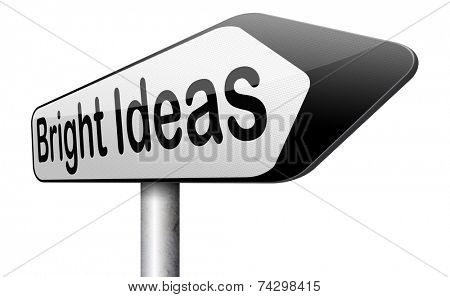 bright new idea brainstorm for a eureka moment find brilliant inspiration and ideas