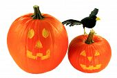 stock photo of hobgoblin  - Decoration for Halloween from carved  - JPG