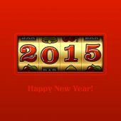 picture of slot-machine  - Happy New Year 2015 card  - JPG