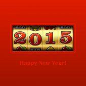 image of slot-machine  - Happy New Year 2015 card  - JPG