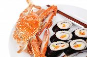 foto of blue crab  - Japanese traditional Cuisine  - JPG