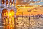 picture of piazza  - Piazza San Marco at sunrise - JPG