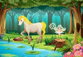 pic of jungle flowers  - Illustration of a horse in a jungle - JPG