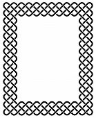 stock photo of celtic  - Traditional Celtic knot braided frame in black and white - JPG