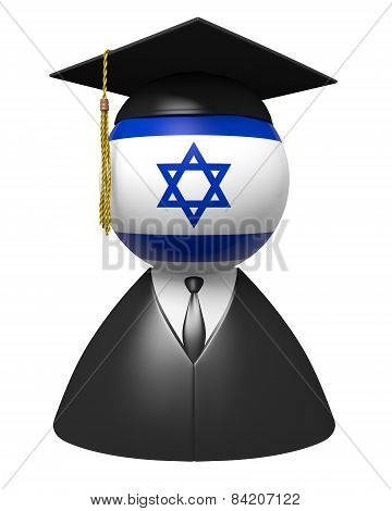 Israel college graduate concept for schools and academic education