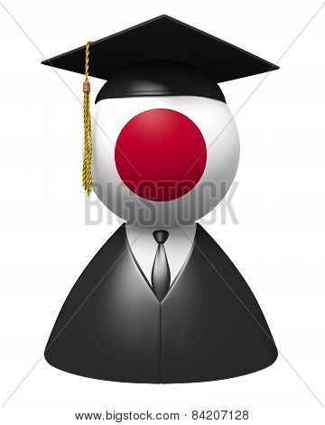 Japan college graduate concept for schools and academic education
