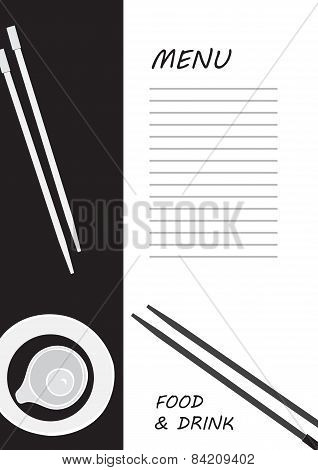 Cute Menu Card. Vector Illustration