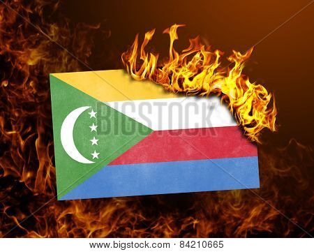 Flag Burning - Comoros