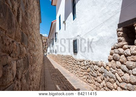 Narrow Alley In Cuzco
