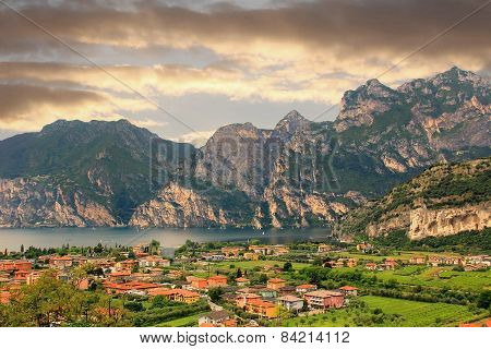 View To Italian Tourist Resort Riva Del Garda