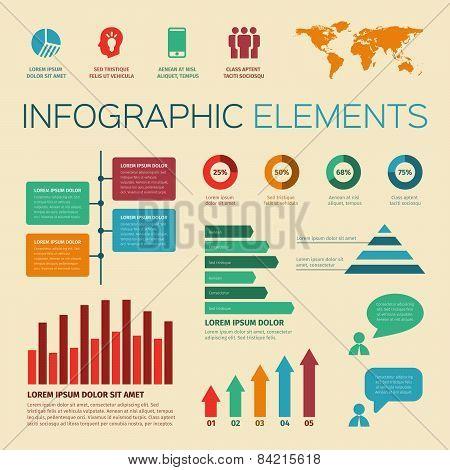 Vintage Retro Infographics Elements