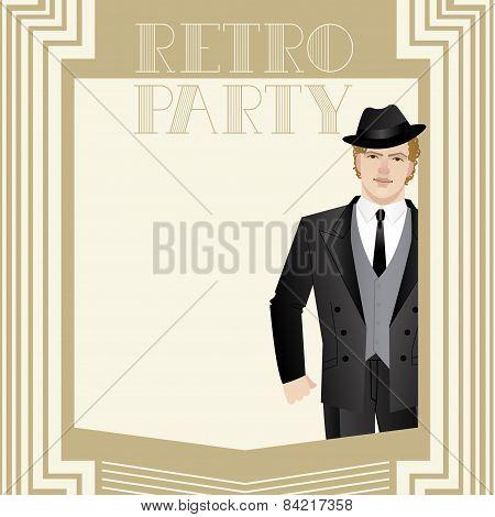 Retro party Invitation