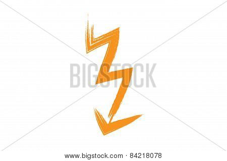 Flash Lightning, Painting Illustration