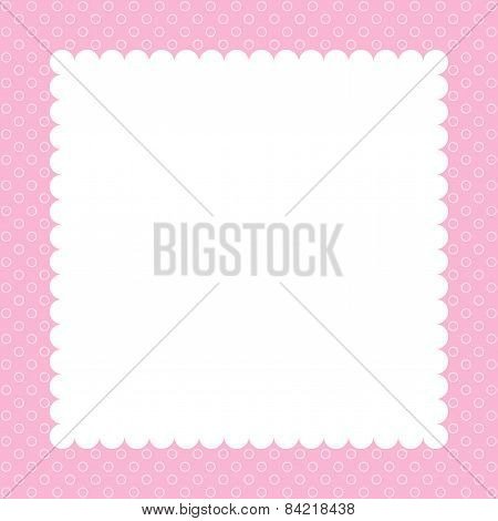 Pink greeting card for a holiday.