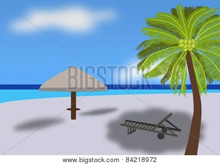 Tropical Beach Scene 01