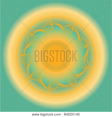 Abstract yellow, blue backdrop