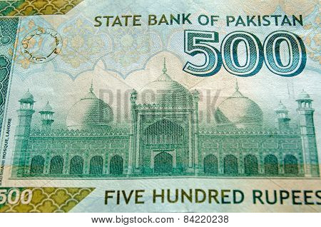 Badshahi Mosque on Banknote
