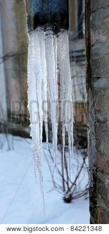 Photo Beautiful Icicles