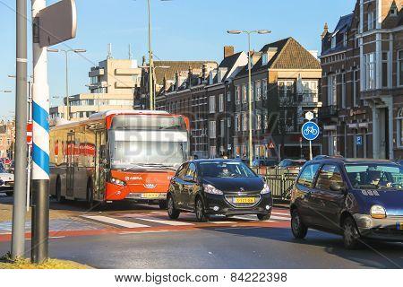 Transport Movement  In The Dutch Town Den Bosch.