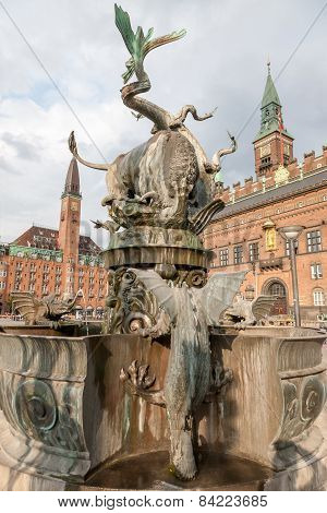 Copenhagen, Denmark Dragon's Fountain
