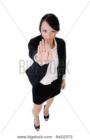 Business Woman Say No