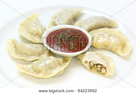 Nepalese food momo