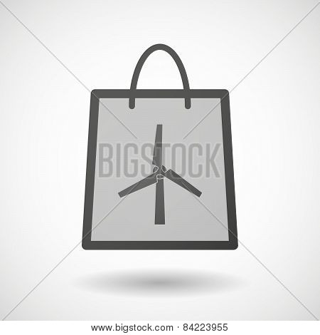 Shopping Bag Icon With A Wind Generator