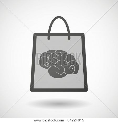 Shopping Bag Icon With A Brain