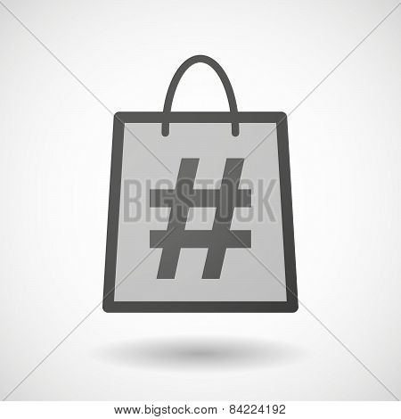 Shopping Bag Icon With A Hash Tag