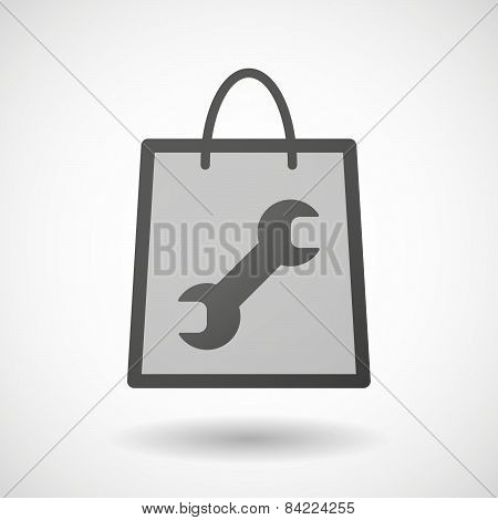 Shopping Bag Icon With A Wrench
