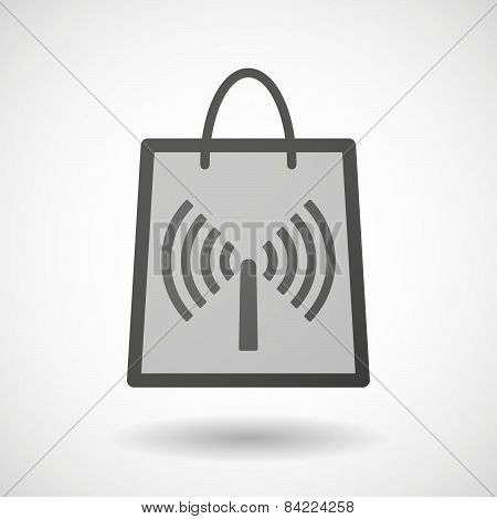Shopping Bag Icon With An Antenna
