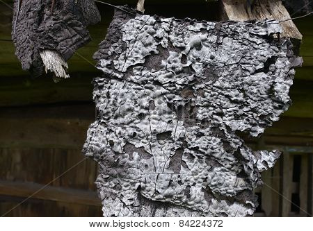 Burnt Wooden Boards, Close Up, Isolated