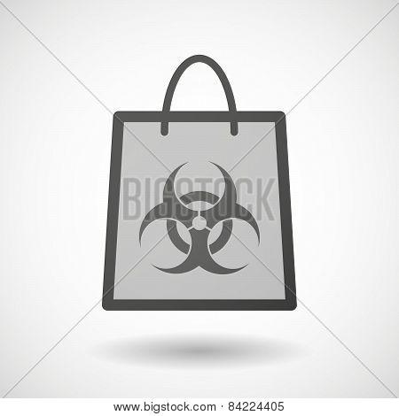 Shopping Bag Icon With A Biohazard Sign
