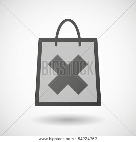 Shopping Bag Icon With An