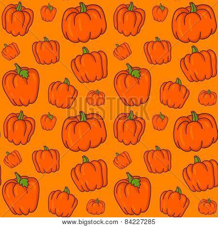 Set Of Retro Pumpkins To Halloween. Vector Illustration.