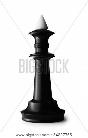3D Black King Chess Piece With Black Tip