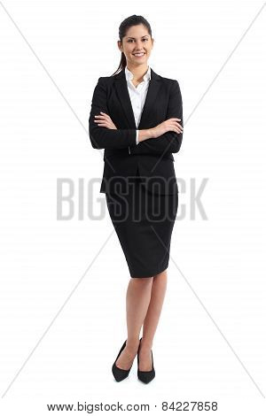 Full Body Of A Business Woman Standing