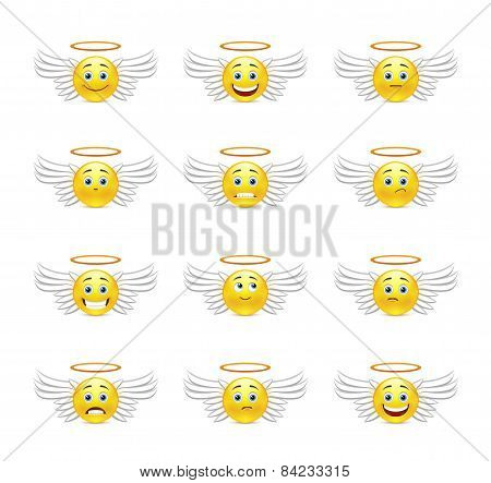 Cute Emoticons Angels
