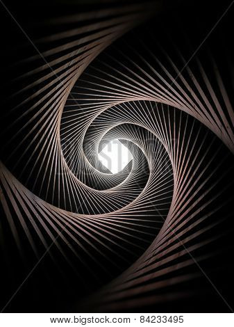 Light In Spiral Tunnel
