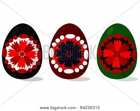 Easter eggs with floral motive