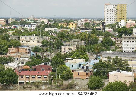 View to the Santo Domingo city, Dominican Republic.