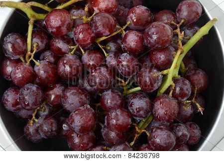 Red Grapes Washed