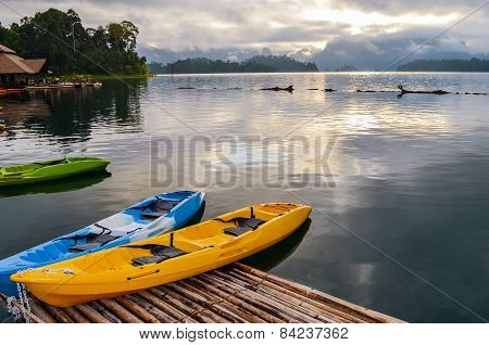 Colorful  Kayak On The Lake.