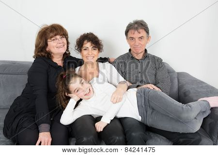 Nice family on a couch