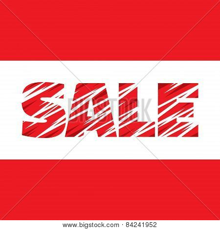 Sale - vector concept word. Sale concept poster. Sale abstract vector banner. Design element.