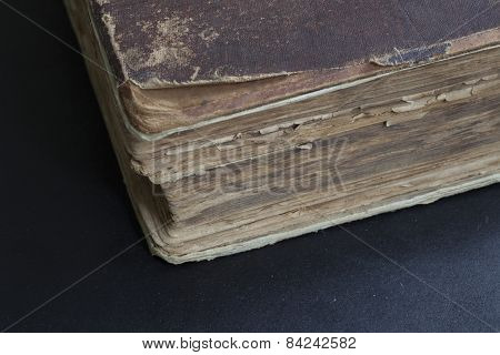 Closeup Of The Old Book