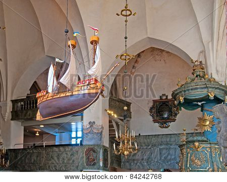 Porvoo. Finland. Interior of Cathedral
